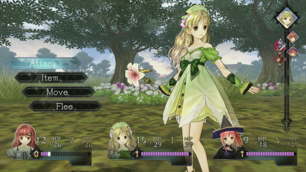 Atelier Ayesha: The Alchemist of Dusk - Battle Screen