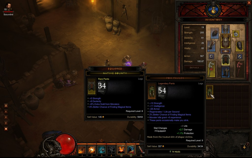 Diablo III - Legendary Pants - Pox Faulds