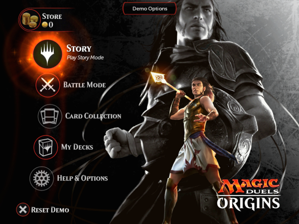 Magic Duels: Origins - Main Menu