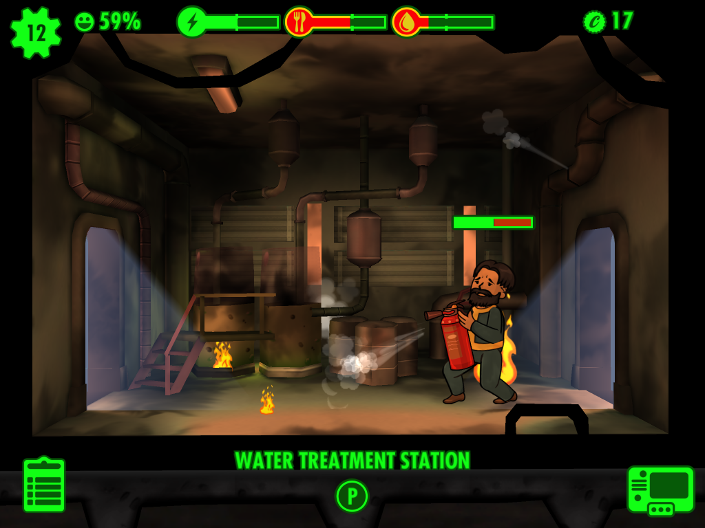 Fallout Shelter - Fire